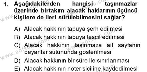 Kamu Yönetimi Bölümü 2. Yarıyıl Borçlar Hukuku Dersi 2014 Yılı Bahar Dönemi Dönem Sonu Sınavı 1. Soru