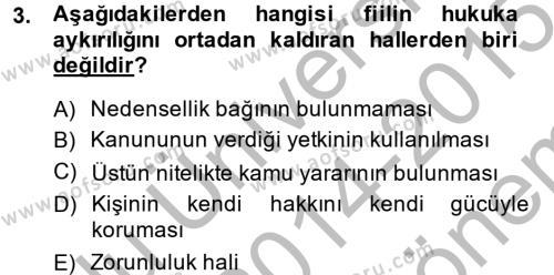 Borçlar Hukuku Dersi 2014 - 2015 Yılı Dönem Sonu Sınavı 3. Soru