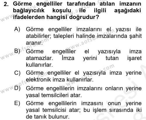 Borçlar Hukuku Dersi 2017 - 2018 Yılı (Final) Dönem Sonu Sınav Soruları 2. Soru