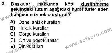 Hukukun Temel Kavramları 1 Dersi 2012 - 2013 Yılı Ara Sınavı 2. Soru