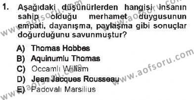 Hukukun Temel Kavramları 1 Dersi 2012 - 2013 Yılı Tek Ders Sınavı 1. Soru