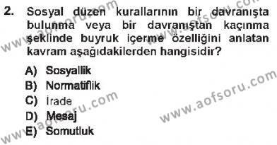 Hukukun Temel Kavramları 1 Dersi 2012 - 2013 Yılı Tek Ders Sınavı 2. Soru