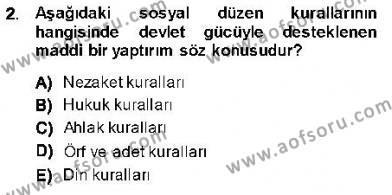 Emlak ve Emlak Yönetimi Bölümü 1. Yarıyıl Hukukun Temel Kavramları I Dersi 2014 Yılı Güz Dönemi Ara Sınavı 2. Soru