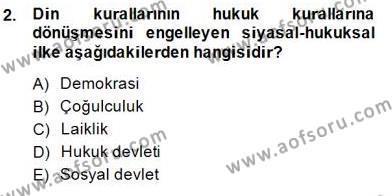 Emlak ve Emlak Yönetimi Bölümü 1. Yarıyıl Hukukun Temel Kavramları I Dersi 2015 Yılı Güz Dönemi Ara Sınavı 2. Soru