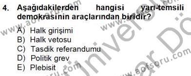 Hukukun Temel Kavramları 2 Dersi 2012 - 2013 Yılı Dönem Sonu Sınavı 4. Soru
