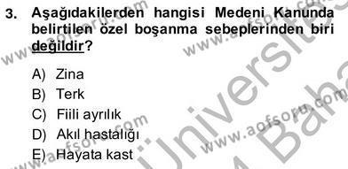 Hukukun Temel Kavramları 2 Dersi 2013 - 2014 Yılı Ara Sınavı 3. Soru