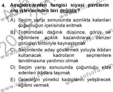 Hukukun Temel Kavramları 2 Dersi 2013 - 2014 Yılı Dönem Sonu Sınavı 4. Soru