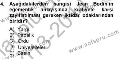 Hukukun Temel Kavramları 2 Dersi 2013 - 2014 Yılı Tek Ders Sınavı 4. Soru