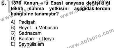 Anayasa 2 Dersi 2012 - 2013 Yılı Ara Sınavı 3. Soru