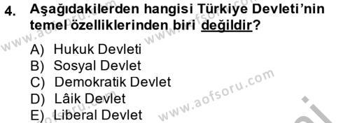 Maliye Bölümü 2. Yarıyıl Temel İdare Hukuku Dersi 2013 Yılı Bahar Dönemi Ara Sınavı 4. Soru