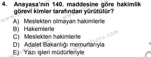 Medeni Usul Hukuku Dersi 2012 - 2013 Yılı (Vize) Ara Sınavı 4. Soru