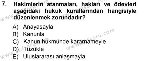 Medeni Usul Hukuku Dersi 2012 - 2013 Yılı Ara Sınavı 7. Soru 1. Soru