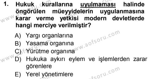 Medeni Usul Hukuku Dersi 2012 - 2013 Yılı Dönem Sonu Sınavı 1. Soru