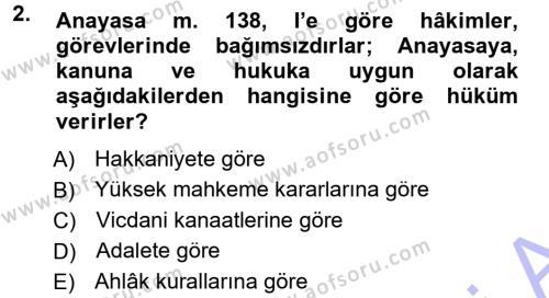 Medeni Usul Hukuku Dersi 2012 - 2013 Yılı (Final) Dönem Sonu Sınavı 2. Soru