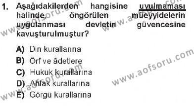 Medeni Usul Hukuku Dersi 2012 - 2013 Yılı Tek Ders Sınavı 1. Soru