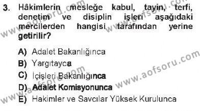 Medeni Usul Hukuku Dersi 2012 - 2013 Yılı Tek Ders Sınav Soruları 3. Soru