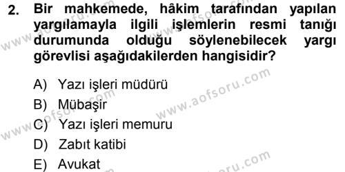 Medeni Usul Hukuku Dersi 2014 - 2015 Yılı (Final) Dönem Sonu Sınav Soruları 2. Soru