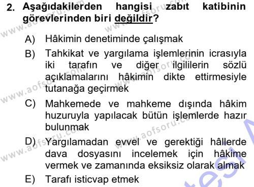 Medeni Usul Hukuku Dersi 2015 - 2016 Yılı (Final) Dönem Sonu Sınavı 2. Soru