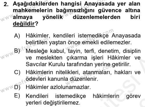 Medeni Usul Hukuku Dersi 2017 - 2018 Yılı (Final) Dönem Sonu Sınavı 2. Soru