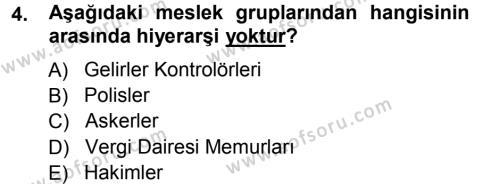 Memur Hukuku Dersi 2012 - 2013 Yılı Ara Sınavı 4. Soru