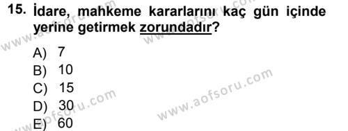 Memur Hukuku Dersi 2012 - 2013 Yılı Dönem Sonu Sınavı 15. Soru 1. Soru