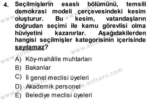 Memur Hukuku Dersi 2013 - 2014 Yılı Ara Sınavı 4. Soru