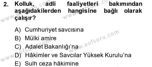 Ceza Muhakemesi Hukuku Dersi 2014 - 2015 Yılı (Final) Dönem Sonu Sınavı 2. Soru