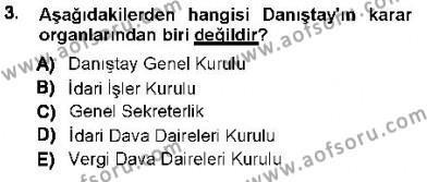 Adalet Bölümü 3. Yarıyıl Yargı Örgütü Ve Tebligat Hukuku Dersi 2013 Yılı Güz Dönemi Ara Sınavı 3. Soru