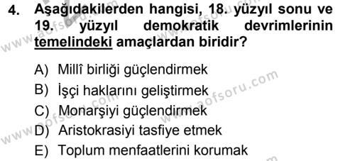 İktisat Bölümü 3. Yarıyıl Anayasa Hukuku Dersi 2013 Yılı Güz Dönemi Ara Sınavı 4. Soru