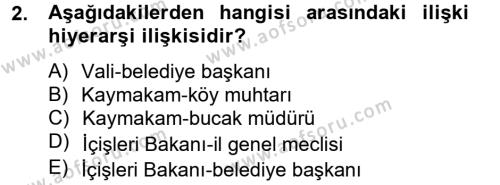 Kamu Yönetimi Bölümü 4. Yarıyıl İdare Hukuku Dersi 2013 Yılı Bahar Dönemi Ara Sınavı 2. Soru
