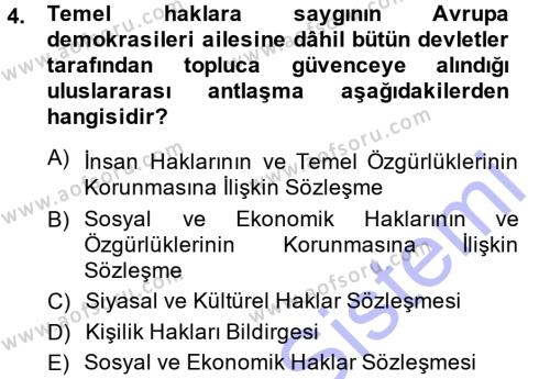 Medya ve İletişim Bölümü 3. Yarıyıl Medya Hukuku Dersi 2015 Yılı Güz Dönemi Ara Sınavı 4. Soru