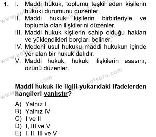 Maliye Bölümü 4. Yarıyıl Vergi Usul Hukuku Dersi 2013 Yılı Bahar Dönemi Ara Sınavı 1. Soru