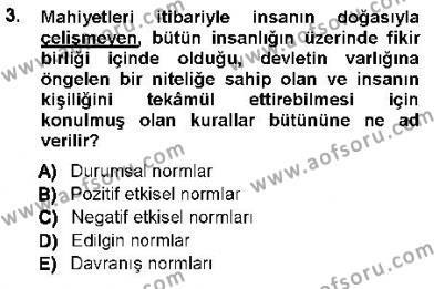 Özel Güvenlik ve Koruma Bölümü 3. Yarıyıl Ceza Hukukuna Giriş Dersi 2013 Yılı Güz Dönemi Ara Sınavı 3. Soru