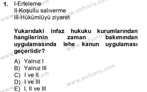 Ceza Hukukuna Giriş Dersi 2014 - 2015 Yılı Ara Sınavı 1. Soru