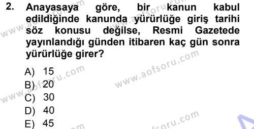 Vergi Hukuku Dersi 2012 - 2013 Yılı Dönem Sonu Sınavı 2. Soru