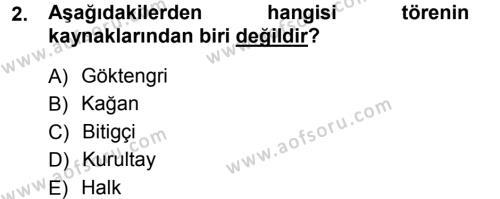 Türk İdare Tarihi Dersi 2012 - 2013 Yılı (Vize) Ara Sınav Soruları 2. Soru