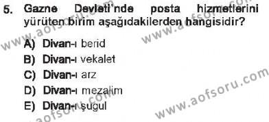 Kamu Yönetimi Bölümü 7. Yarıyıl Türk İdare Tarihi Dersi 2013 Yılı Güz Dönemi Tek Ders Sınavı 5. Soru