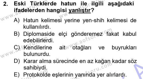 Türk İdare Tarihi Dersi 2013 - 2014 Yılı Ara Sınavı 2. Soru