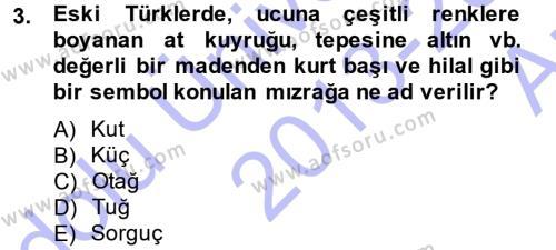 Kamu Yönetimi Bölümü 7. Yarıyıl Türk İdare Tarihi Dersi 2014 Yılı Güz Dönemi Ara Sınavı 3. Soru