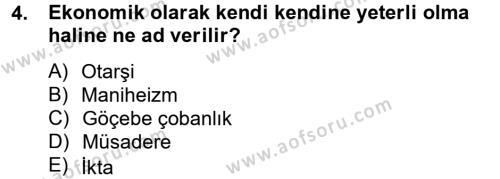 Türk İdare Tarihi Dersi 2013 - 2014 Yılı Ara Sınavı 4. Soru