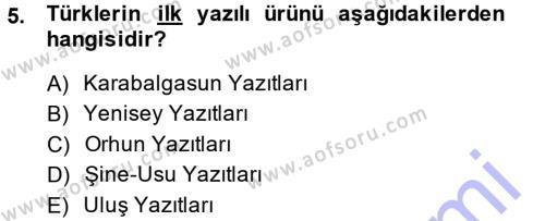 Kamu Yönetimi Bölümü 7. Yarıyıl Türk İdare Tarihi Dersi 2015 Yılı Güz Dönemi Ara Sınavı 5. Soru