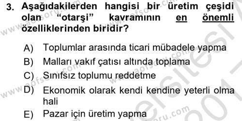 Türk İdare Tarihi Dersi 2016 - 2017 Yılı (Vize) Ara Sınav Soruları 3. Soru