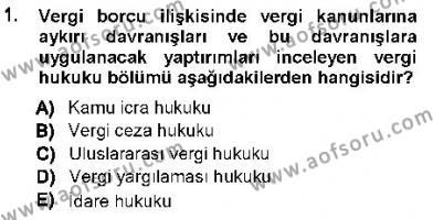 Maliye Bölümü 7. Yarıyıl Vergi Ceza Hukuku Dersi 2013 Yılı Güz Dönemi Ara Sınavı 1. Soru