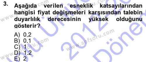 İktisada Giriş Dersi 2012 - 2013 Yılı (Final) Dönem Sonu Sınav Soruları 3. Soru