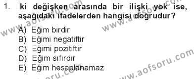 İktisada Giriş Dersi 2012 - 2013 Yılı Tek Ders Sınavı 1. Soru