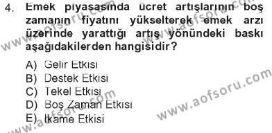 Spor Yönetimi Bölümü 1. Yarıyıl İktisada Giriş Dersi 2013 Yılı Güz Dönemi Tek Ders Sınavı 4. Soru