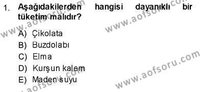 İktisada Giriş 1 Dersi 2013 - 2014 Yılı Ara Sınavı 1. Soru