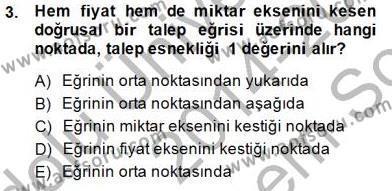 İktisada Giriş 1 Dersi 2014 - 2015 Yılı Dönem Sonu Sınavı 3. Soru