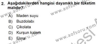 Emlak ve Emlak Yönetimi Bölümü 1. Yarıyıl İktisada Giriş I Dersi 2016 Yılı Güz Dönemi Dönem Sonu Sınavı 2. Soru