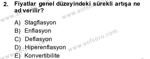 İktisada Giriş 2 Dersi 2013 - 2014 Yılı Ara Sınavı 2. Soru